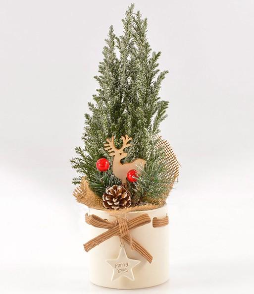 mini weihnachtsbaum dekoriert im ke weihnachtszeit bei baldur garten. Black Bedroom Furniture Sets. Home Design Ideas