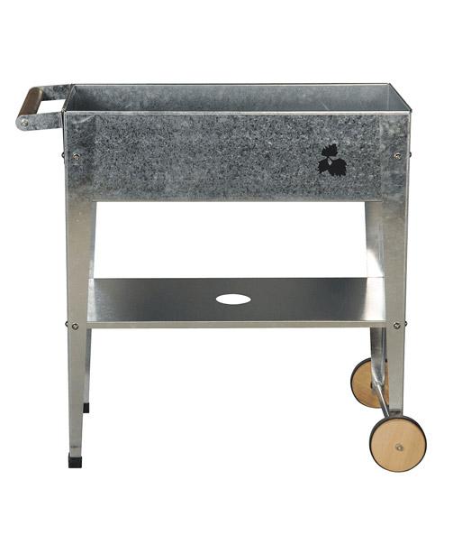 balkon und terrassen hochbeet trolley silber baldur garten. Black Bedroom Furniture Sets. Home Design Ideas