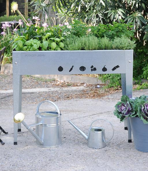 Hochbeet Fur Balkon Und Terrasse Silber Top Qualitat Baldur Garten