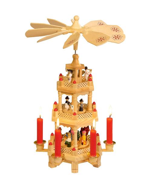weihnachts pyramide 3 etagen sonderartikel bei baldur garten. Black Bedroom Furniture Sets. Home Design Ideas