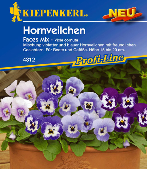 Hornveilchen 'Faces Mix'