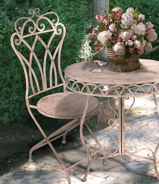 bistro gartenm bel stuhl 39 antik wei gartenst hle bei. Black Bedroom Furniture Sets. Home Design Ideas